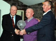 Martin Conlon presenting Liam Ronayne with the Hall of Fame award at the 2016 presentations